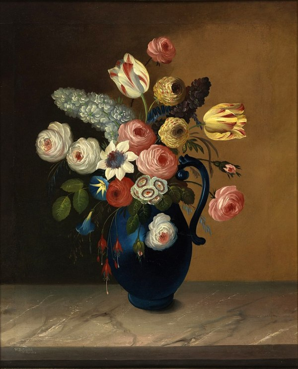 FileStill life flowers in a blue jug William Buelow