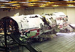 The wreckage of TWA 800, reconstructed for the investigation