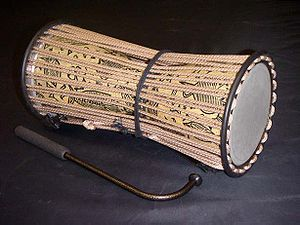 The talking drum is an instrument unique to th...