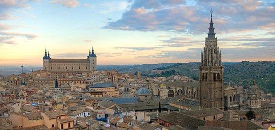 Vista panorámica del casco histórico de Toledo.