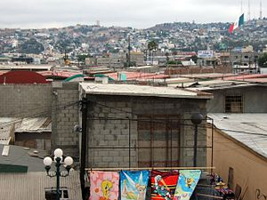 view of Tijuana, Mexico