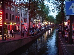 The red light district in Amsterdam