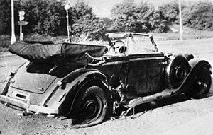 Reinhard Heydrich's car (a Mercedes 320 Conver...