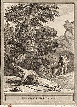 Le Lion Et Le Chasseur : chasseur, Pâtre, Wikipédia