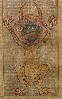 Satan as seen in Codex Gigas.