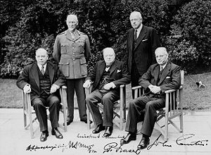 Commonwealth Prime Ministers' Conference. (L-R...