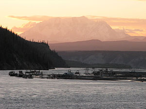 Looking north from the bridge near Chitina.