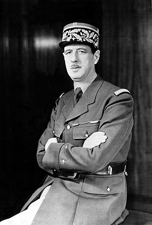 WWII French General Charles De Gaulle A WWII p...
