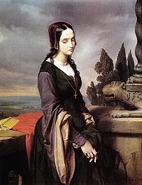 Eliseo Sala'nın Pia de Tolomei ya da Melankoli tablosu (1846)