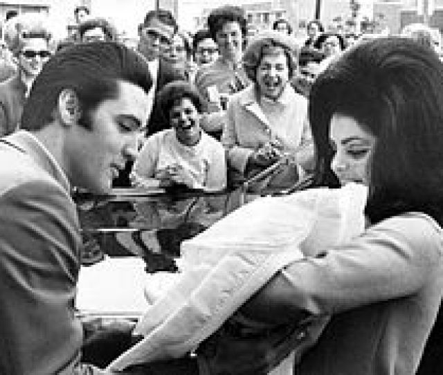 Elvis And Priscilla With Newborn Lisa Marie