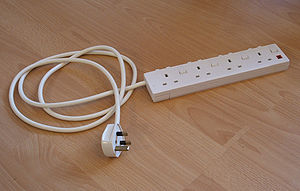 An extension lead/multiplug.
