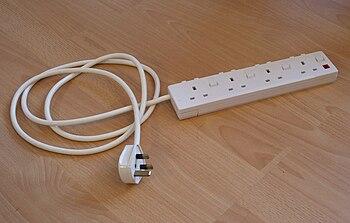 An extension lead/multiplug.