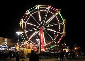 Ferris wheel at a fair in Yate, Bristol, England