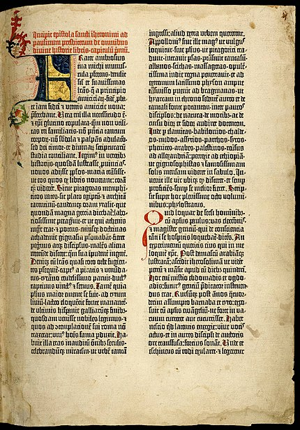 File:Gutenberg bible Old Testament Epistle of St Jerome.jpg