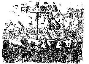 18th century illustration of perjurer John Wal...