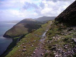Weg oberhalb der Dingle Bay