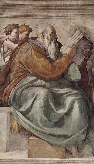 Zechariah (fresco by Michelangelo)