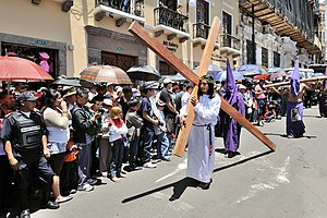 Quito, Ecuador, Good Friday 2010: Street proce...