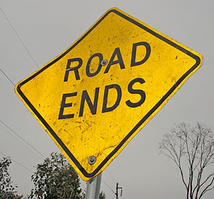 English: Road Ends sign used in New South Wale...