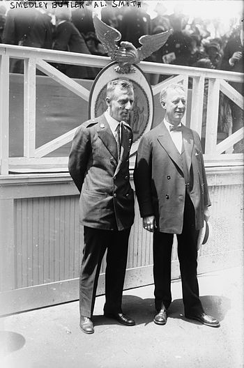 General Smedley Butler (left) and New York Gov...