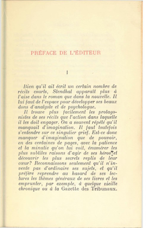 Exemple De Préface D Un Livre : exemple, préface, livre, Page:Stendhal, Romans, Nouvelles,, 1928,, Martineau.djvu/19, Wikisource
