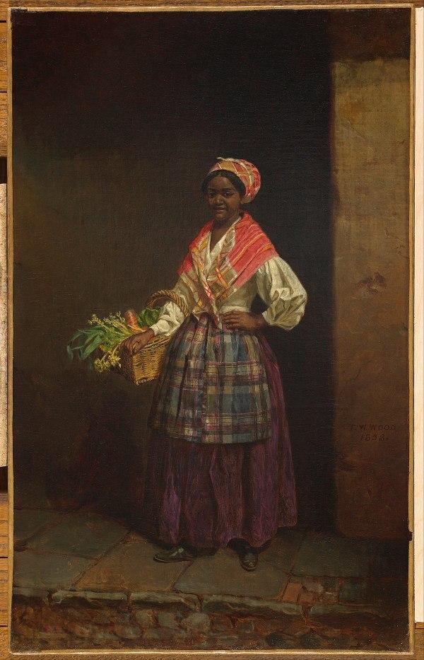 Market Woman Thomas Waterman Wood Painting