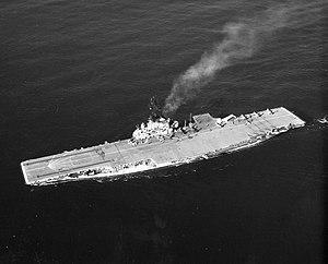 The U.S. Navy aircraft carrier USS Yorktown (C...