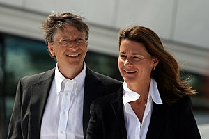 Bill and Melinda Gates during their visit to t...