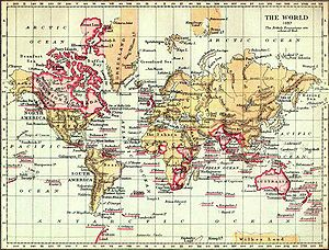 "English: The World in 1897. ""The British ..."