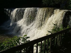 Waterfall in the town of Chagrin Falls, Ohio