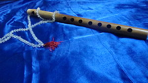 An eight holed Indian classical flute