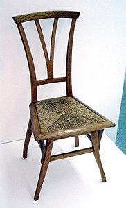 simply bows and chair covers newcastle swivel vauxhall vivaro art nouveau wikipedia bloemenwerf made by henry van de velde for his residence 1895
