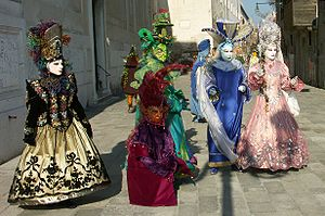 Some masks at the Carnival of Venice.