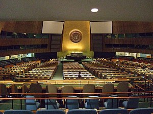 English: United Nations General Assembly hall,...
