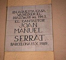 Joan Manuel Serrat  Wikipedia la enciclopedia libre