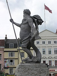 Neptune reigns in the city of Bristol.