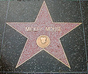 Mickey Mouse's star on the Hollywood Walk of F...