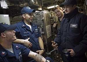 English: GROTON, Conn. (Jan. 8, 2009) Sailors ...