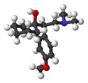 The chemical structure of venlafaxine (Effexor...