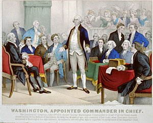 English: George Washington accepting command o...