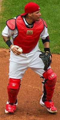 Not sure how much practice Yadi's tattoo artist had before doing that neck tat