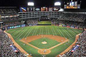 The Ballpark in Arlington home of the Texas Ra...