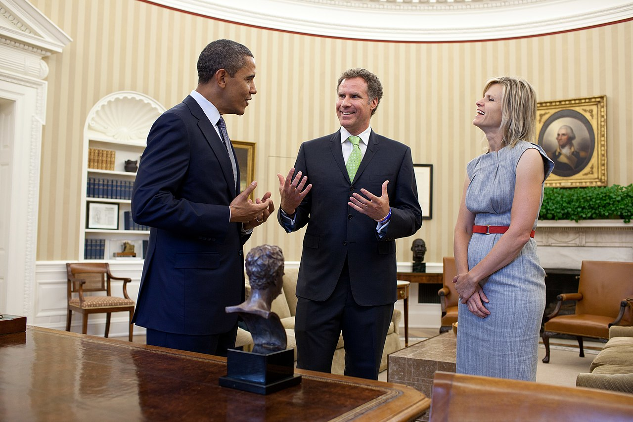 FileBarack Obama Meets With Will Ferrell And Viveca