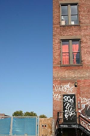 A street in Williamsburg, Brooklyn