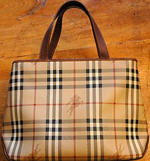 Burberry check handbag: see