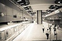 A Delhi underground metro station