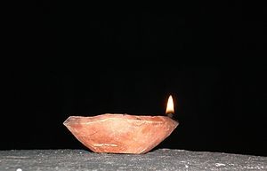 English: Traditional Indian Diya