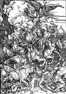 Albrecht Dürers apokalyptische Reiter, in Deutschland haben sie seit altersher Hochkonjunktur (Bildquelle: Wikipedia)