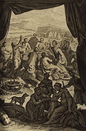 Laban and Jacob Make a Covenant Together (illu...
