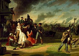 English: George Caleb Bingham painting (about ...